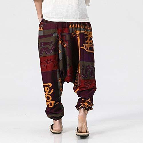 Molyveva Hombres Retro Harem Pantalon Algodon Lino Hip Hop B Mercado Libre
