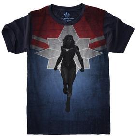 Camisetas 4fun - Super Herói Capitã Marvel Vingadores