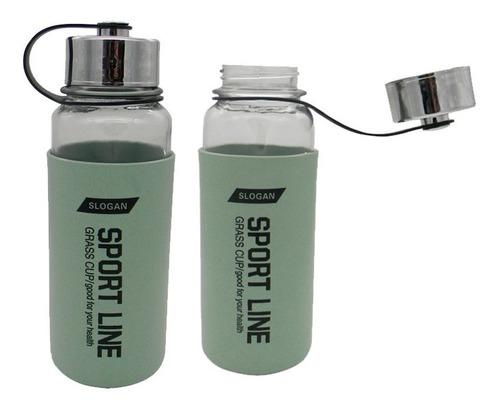 Botella De Vidrio Con Cubierta Plastica Tapa A Rosca 1 Litro