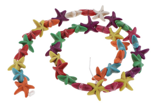 Imagen 1 de 10 de 34-37 Piezas/hebra Cuentas De Gemas Suaves Turquesa Estrella