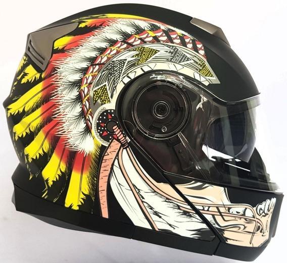 Casco Integral Iron Racing Certificación Dot Indian Amarillo