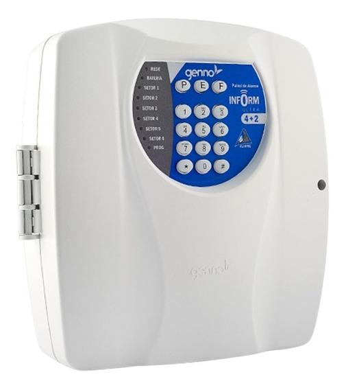 Central De Alarme Genno Ultra 4+2 Setores Com Discadora Dtmf