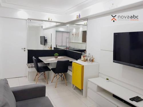 Imagem 1 de 22 de Apartamento Com 2 Dormitórios À Venda, 53 M² Por R$ 270.000,00 - Vila Scarpelli - Santo André/sp - Ap3182