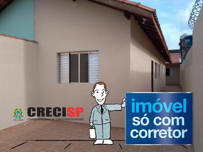 Casa Com Edicula Nos Fundos Mongaguá Entrada De R$ 69 Mil