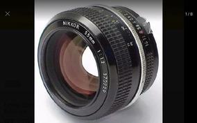 Lente Luminosa Nikon 55mm F1.2 Foco Manual = Pronta Entrega