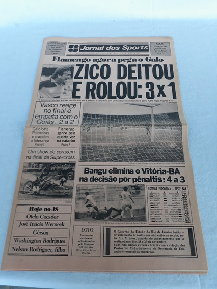 Jornal Dos Sports Flamengo Zico 23 - 11 - 1987