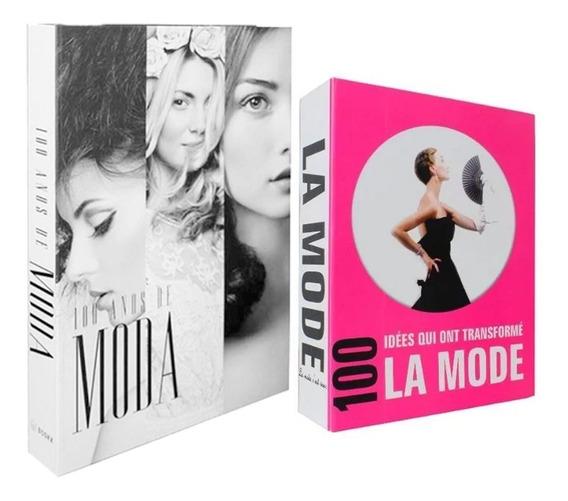 Conjunto De Caixas Livros Decorativa La Mode 100 Anos Moda