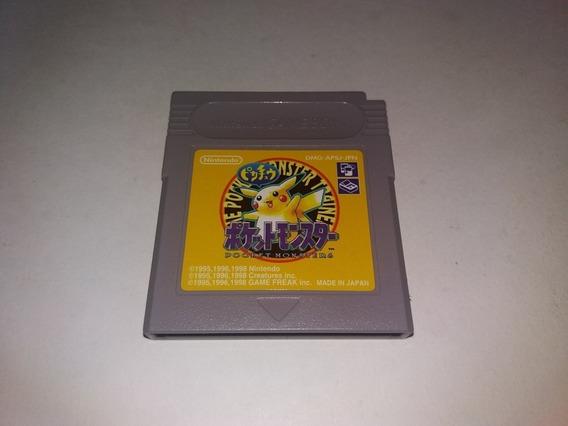 Jogo Pokemon Yellow Original Japones Para Nintendo Game Boy