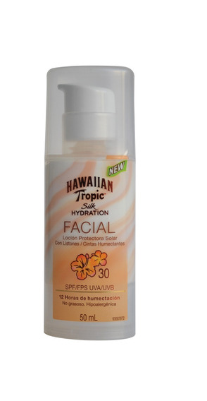Protector Solar Facial Hawaiian Tropic Silk Hydration 30 Spf