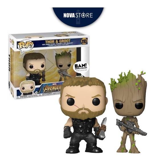 Funko Pop! 2 Pack B.a.m. Thor & Groot | Infinity War Marvel