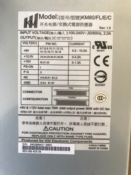 Fonte Hp Storageworks Km80/fl/e/c Msl2024 Km-80