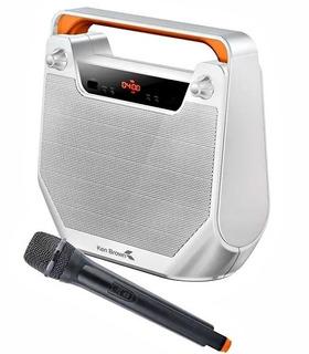 Parlante Portatil Bluetooth Mp3 Usb Fm Mic Ken Brown Luces