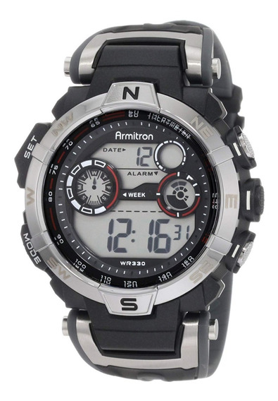 Armitron Pro Sport 408231rdgy, Reloj Para Caballero Negro