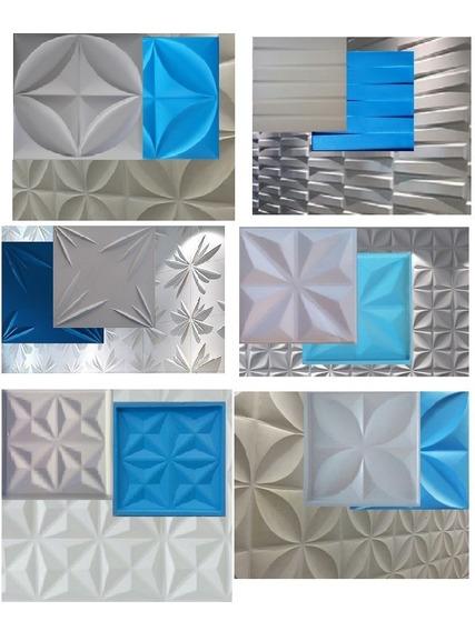 6 Formas 40x40 Cms De Abs Com Borracha Eva P/ Gesso 3d