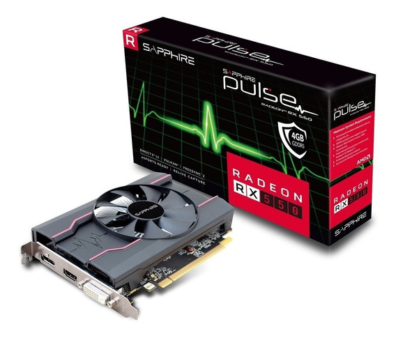 Placa Video Amd Sapphire Radeon Rx 550 Pulse 4gb Gddr5 Oc