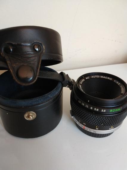 Lente Analógica Zuiko Mc Auto-macro 50mm Para Olympus