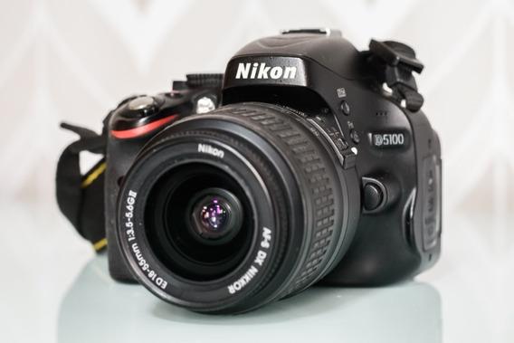 Câmera Nikon D5100 E Lente 18-55mm F/3.5-5.6 Gii Vr