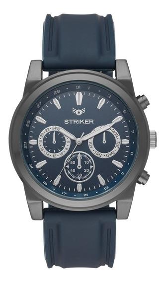 Reloj Caballero Striker Fmdmx041 Color Azul De Silicón