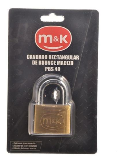 Candado Rectg M&k Bronce 40mm