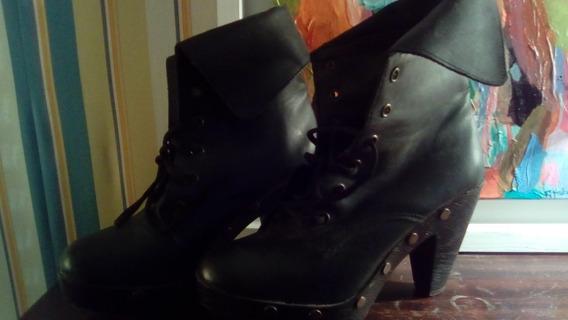 Botas Zapatos Mujer Negro 37