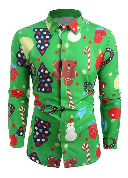 Botón Tema Navidad Arriba Camisa
