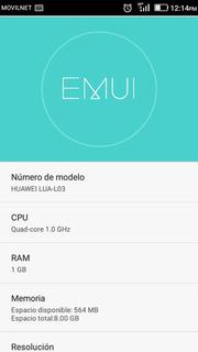 Teléfono Huawei Lua-l03