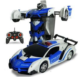 Carrinho De Controle Remoto Transformers Robô Presente