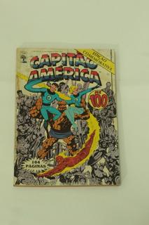 Hq Capitão America N°100 Gibi Raro Editora Abril 1987
