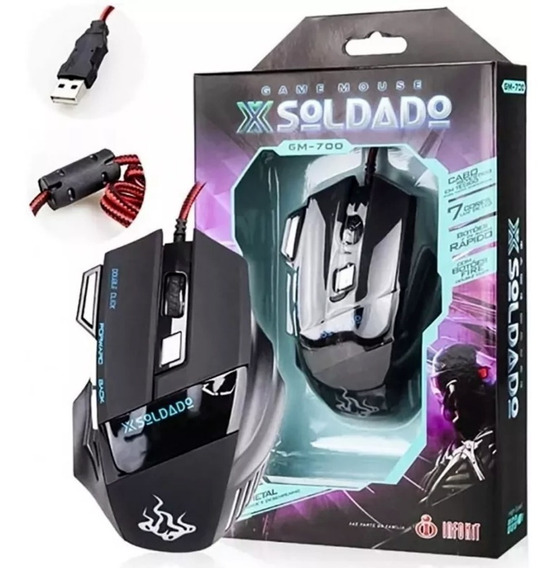 Mouse Gamer High Speed 3000 Dpi Usb 7d Extreme Led 7 Cores
