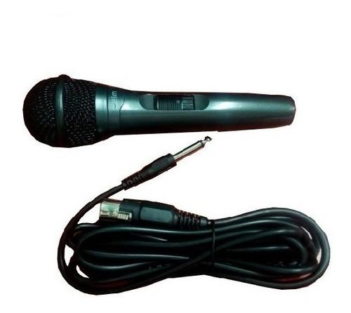 Microfono Delm Dinamico 3.5 Mm 3 Mt Unidireccional Karaoke