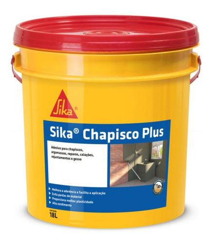 Imagem 1 de 1 de Cola Para Chapiscos E Argamassas Sika Chapisco Plus 18 L