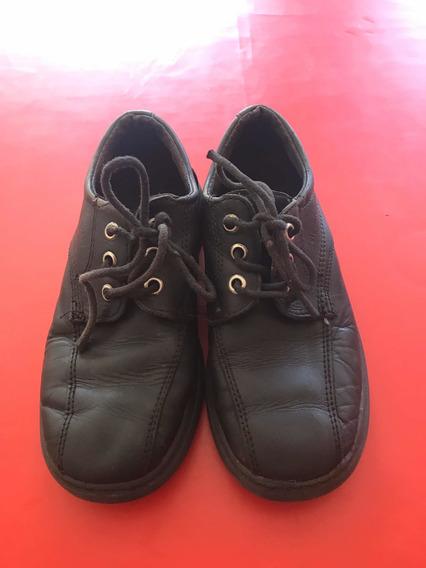 Zapatos Colegiales Ferli Para Niños Usados Talle 32 De Cuero
