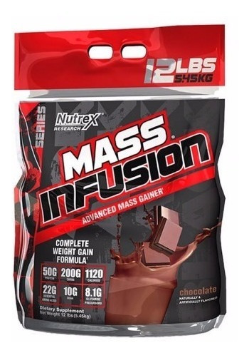 Proteina Nutrex Mass Infusion 12 Lbs Sabor Chocolate