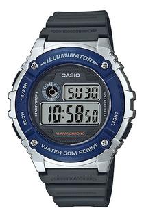 Reloj Casio W-216h Hombre Crono Alarma Wr50m Impacto Online