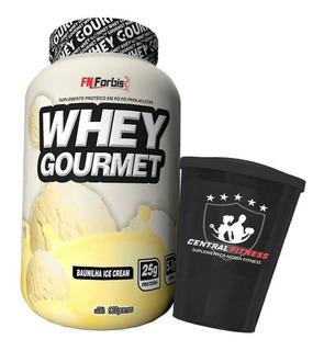 Whey Gourmet Fn Forbis 900g - Baunilha Ice Cream + Copo