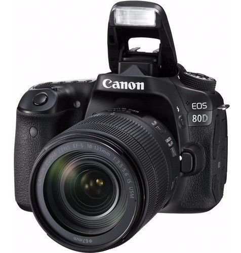 Canon 80d + 18-135mm F/3.5-5.6 Is Usm - 2 Anos De Garantia