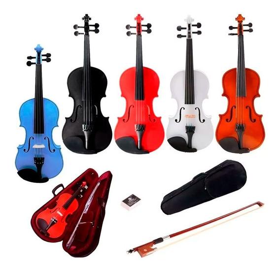 Violin Stradella 4/4 Colores + Arco + Estuche + Envio