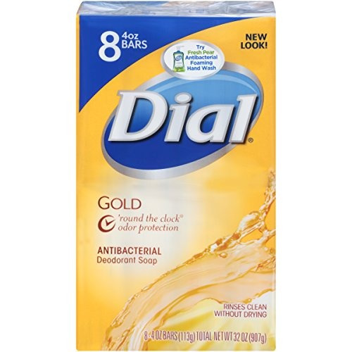 Jabón Antibacterial Oro Dial 4 Onzas 8 Barras