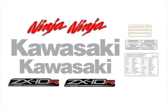 Adesivos Moto Kawasaki Ninja Zx-10r Abs 2011 Preta Ccr15986