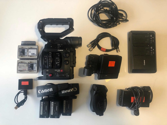 Canon C300 Mark Ii + 3 Baterias + 4 Cards + Carregador Duplo
