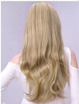 Cabelo Mega Hair Loiro Médio Ondulado Liso Tic Tac Faixa