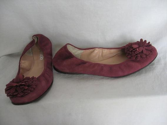 Chatitas -ballerinas Paruolo, N° 39, Cuero Gamuza