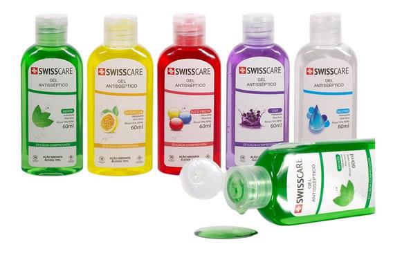 Kit 5 Álcool Gel 70% C/ Fragrância Antisséptico Higienizador