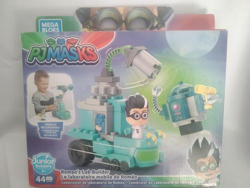 Imagen 1 de 6 de Romeo Laboratorio Movil Pj Mask Heroes En Pijamas Mega Bloks