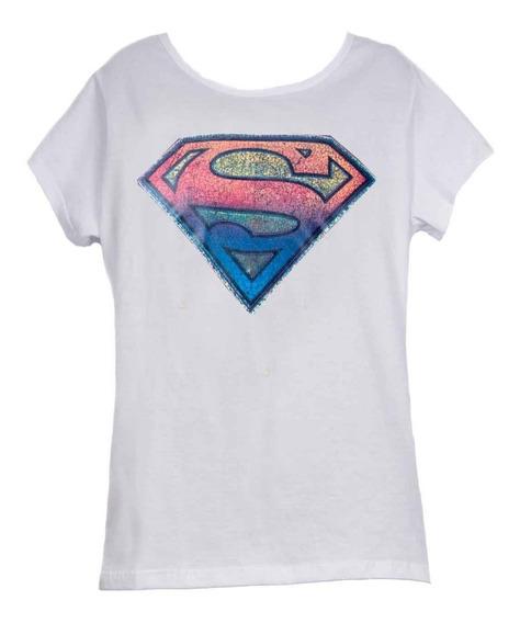 Remera, Dc, Superman Logo Multicolor Dama Accoriginals