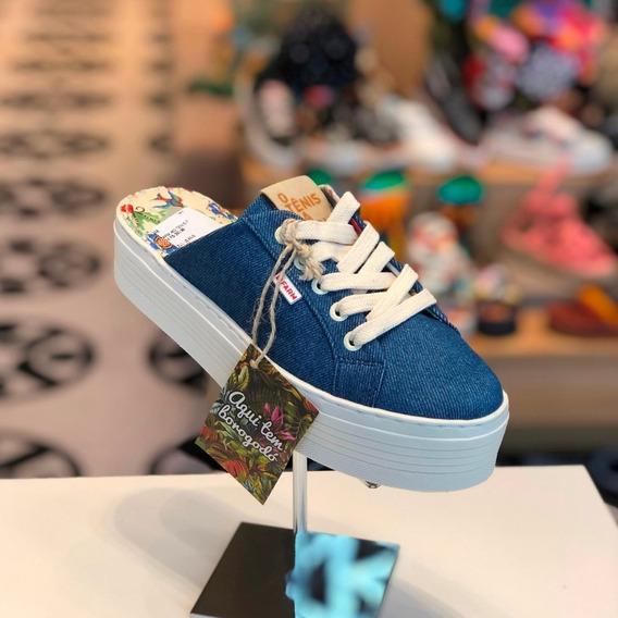Tênis Mule Farm Azul Jeans - Verão 2020 - Loja Berti Maria