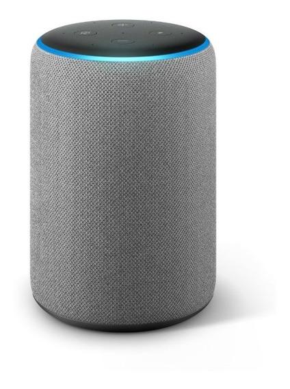 Echo Amazon Smart Speaker Alexa 3 Geracao Em Portugues Cinza
