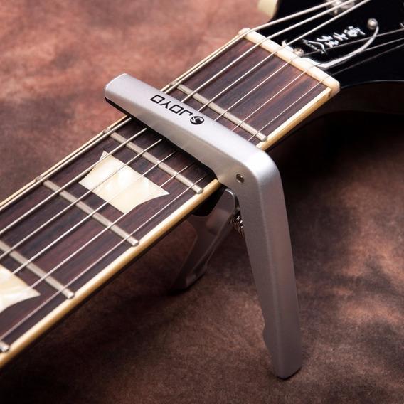 Capotraste Joyo Para Guitarra E Violão Silver Prata Oferta