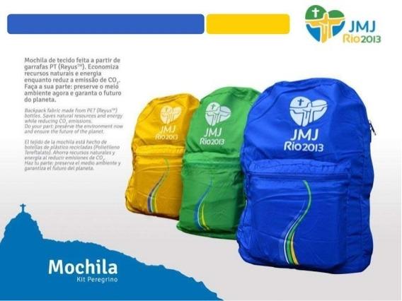 Mochila Jmj Rio 2013 Cor Azul