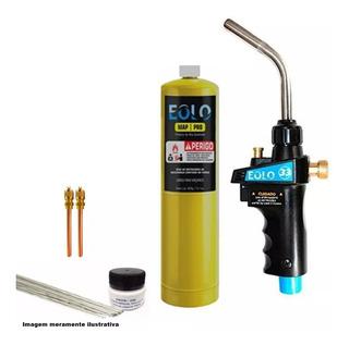 Maçarico Turbo Torch 2200° Refil Gás Mapp Foscoper Schrader